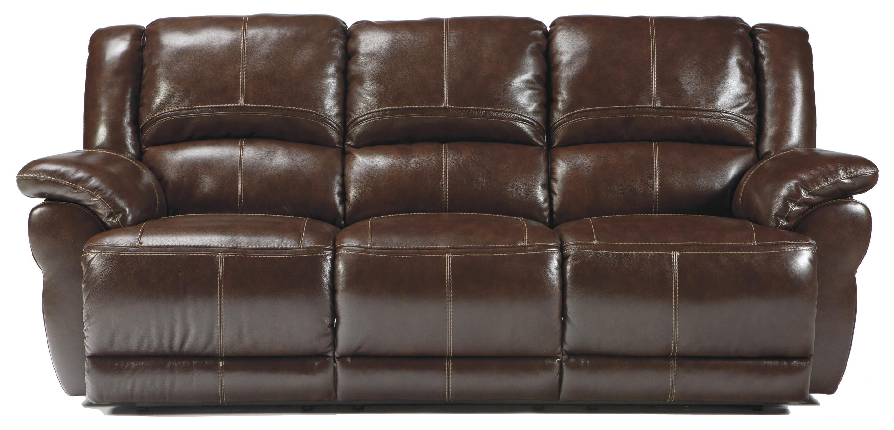 Signature Design by Ashley Lenoris - Coffee Reclining Sofa - Item Number: U9890188