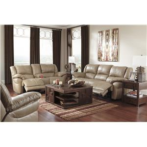 Signature Design by Ashley Lenoris - Caramel Reclining Living Room Group