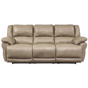 Signature Design by Ashley Lenoris - Caramel Reclining Sofa
