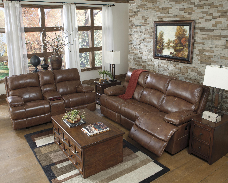 Signature Design by Ashley Lensar Nutmeg Reclining Living Room