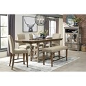 Signature Design by Ashley Lettner Counter Height Upholstered Barstool with Nailhead Trim