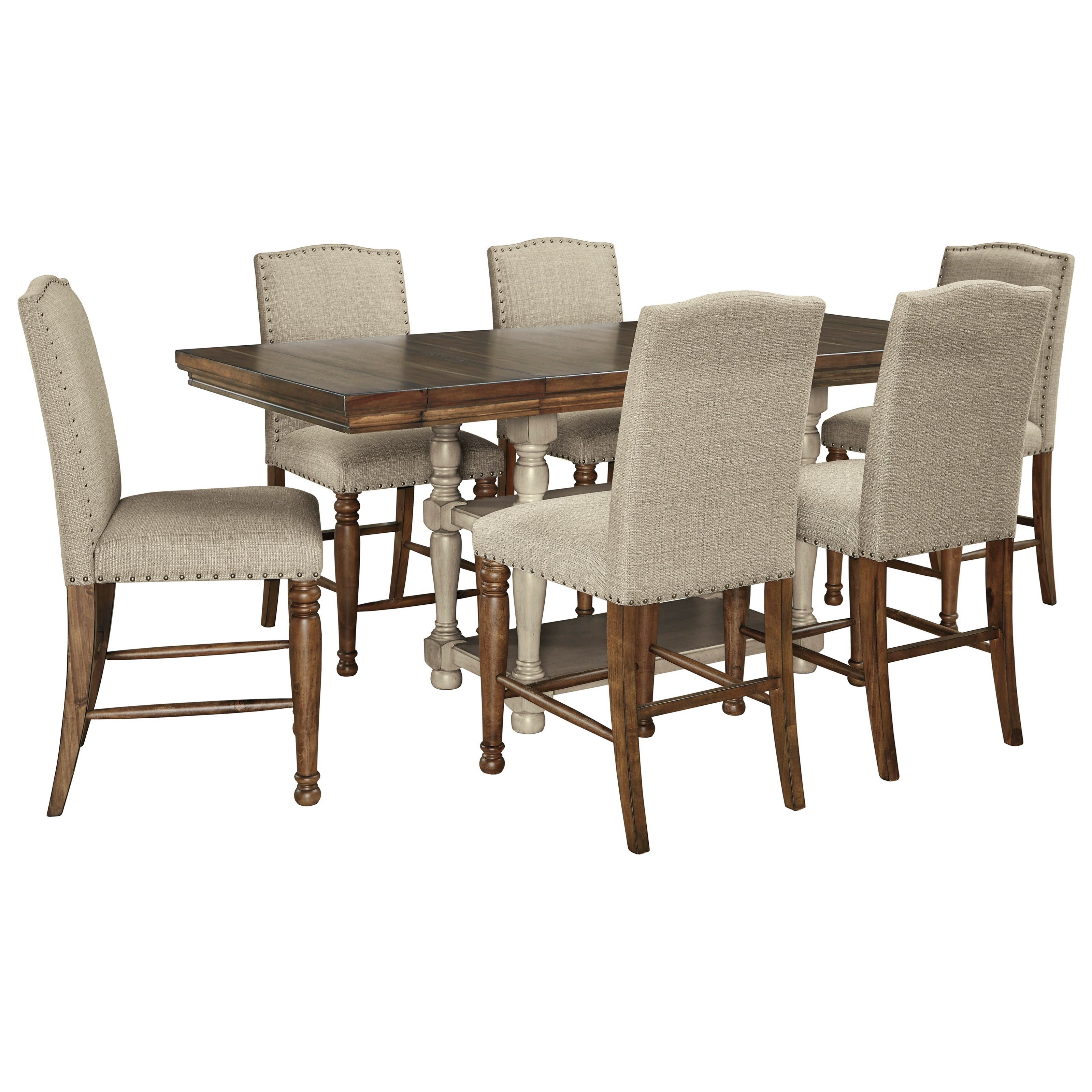 Lettner 7-Piece Counter Table Set by Ashley (Signature Design) at Johnny Janosik