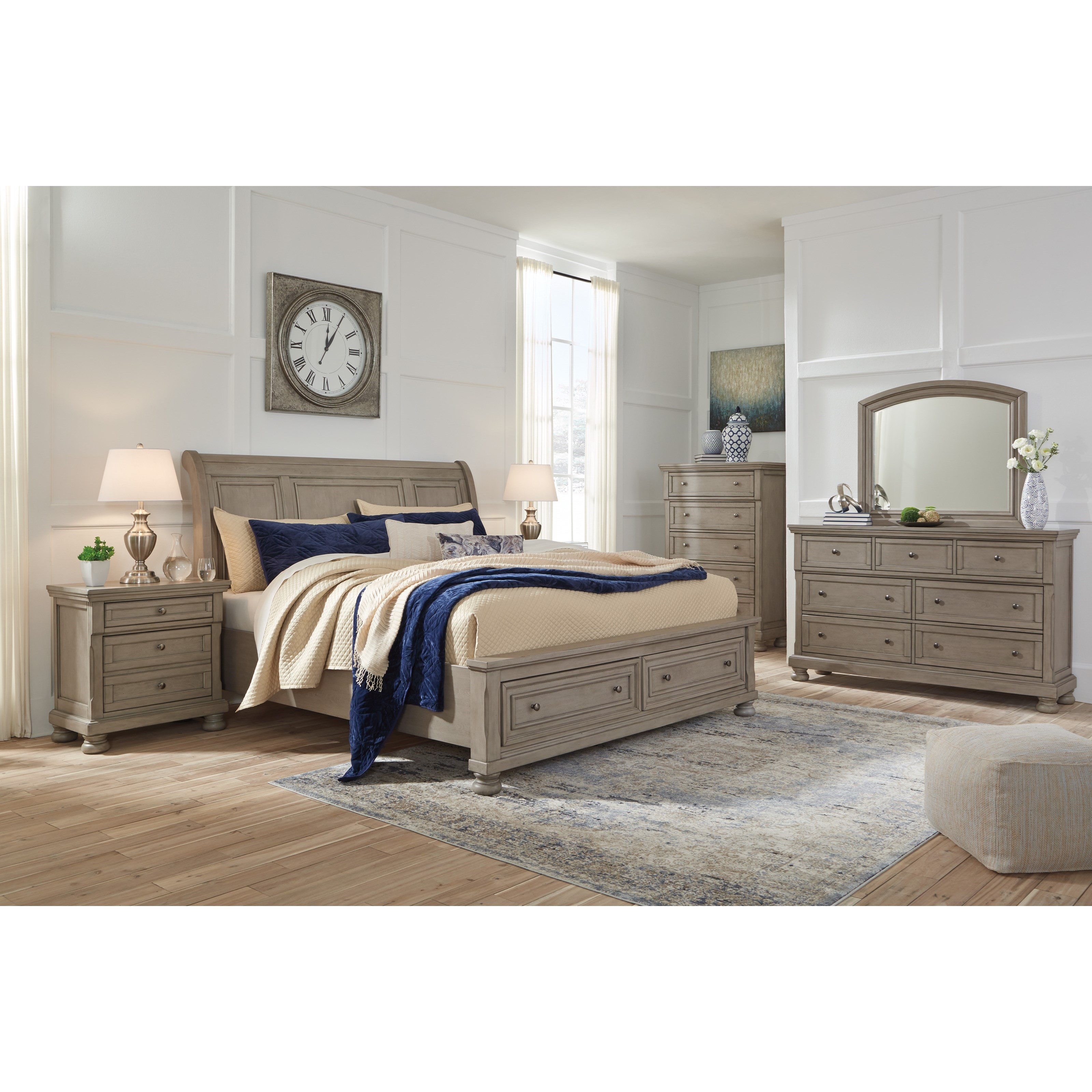 Signature Design by Ashley Lettner King Bedroom Group - Item Number: B733 K Bedroom Group 8