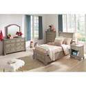 Signature Design by Ashley Lettner Twin Bedroom Group - Item Number: B733 T Bedroom Group 12
