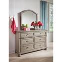 Signature Design by Ashley Lettner 6-Drawer Dresser & Bedroom Mirror