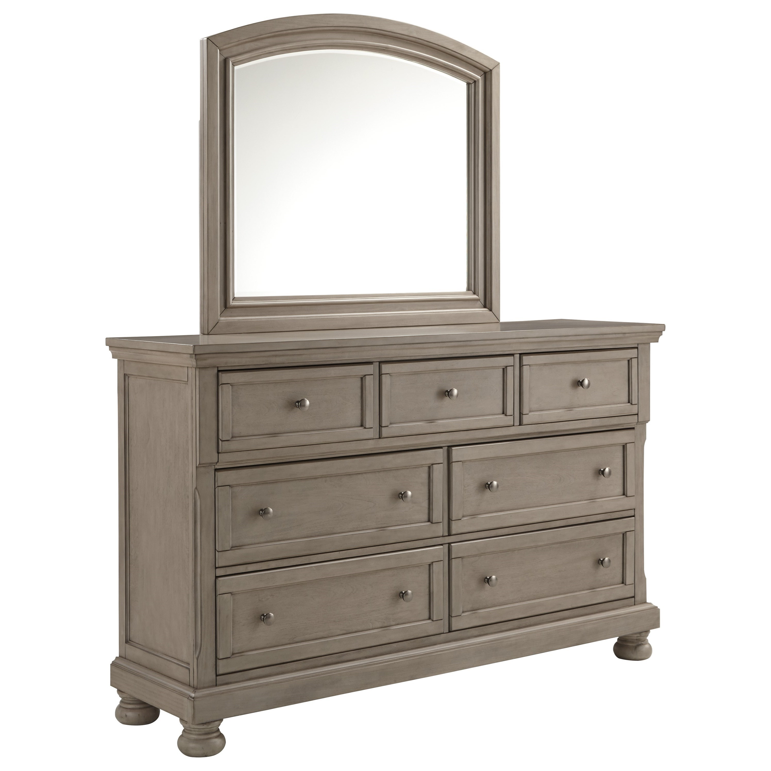 Lettner 7-Drawer Dresser and Mirror Set by Ashley (Signature Design) at Johnny Janosik