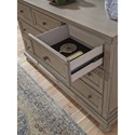 Signature Design by Ashley Lettner Casual Seven Drawer Dresser and Mirror Set