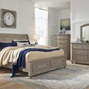 Signature Design by Ashley Lettner Casual 5-Drawer Chest with Bun Feet
