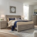 Signature Design by Ashley Lettner Casual California King Sleigh Bed with Footboard Storage - Bed shown may not represent bed size indicated