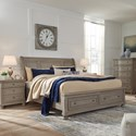 Signature Design by Ashley Lettner Casual King Sleigh Bed with Footboard Storage - Bed shown may not represent bed size indicated