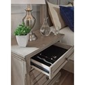 Signature Design by Ashley Lettner Casual Two Drawer Night Stand with Felt-Lined Top Drawer