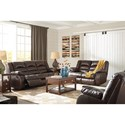 Signature Design by Ashley Levelland Reclining Living Room Group - Item Number: 17001 Living Room Group 3