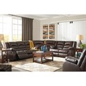 Signature Design by Ashley Levelland Reclining Living Room Group - Item Number: 17001 Living Room Group 5
