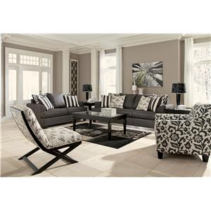 Signature Design by Ashley Levon - Charcoal Stationary Living Room Group