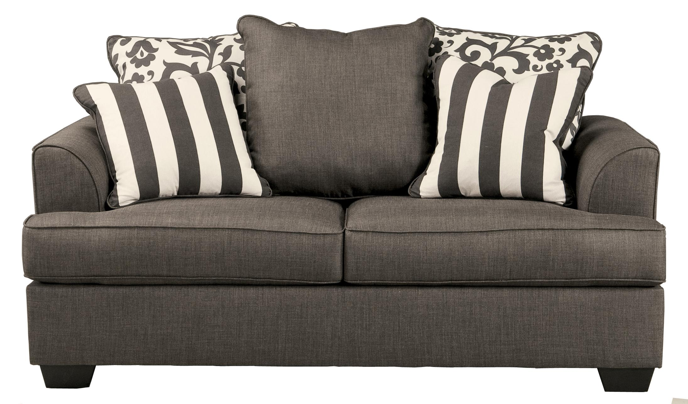 Signature Design by Ashley Levon - Charcoal Loveseat - Item Number: 7340335