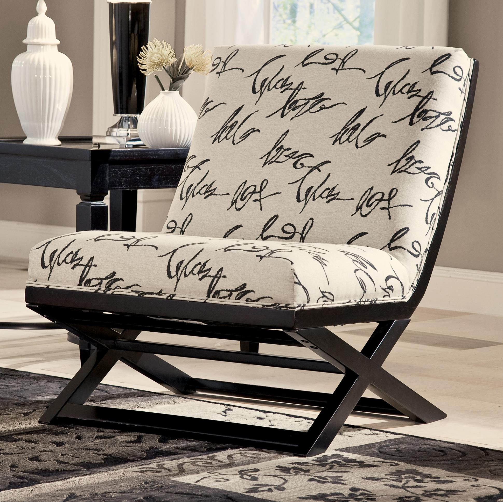 Ashley Signature Design Levon   Charcoal Showood Accent Chair   Item  Number: 7340360