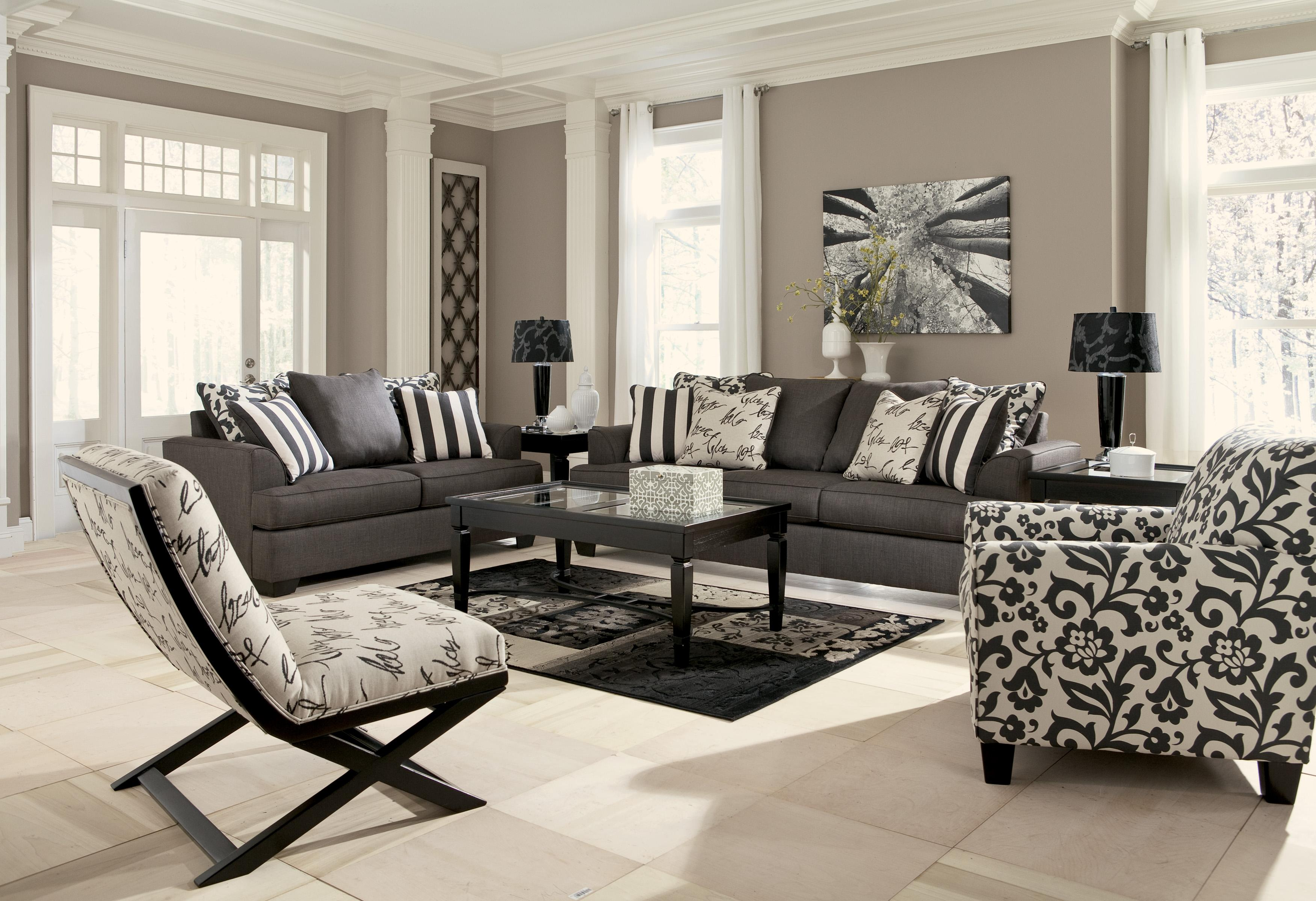 Ashley Signature Design Levon Charcoal Armless Showood