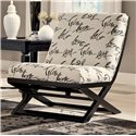 Signature Design by Ashley Levon  - Charcoal Showood Accent Chair - Item Number: 7340360