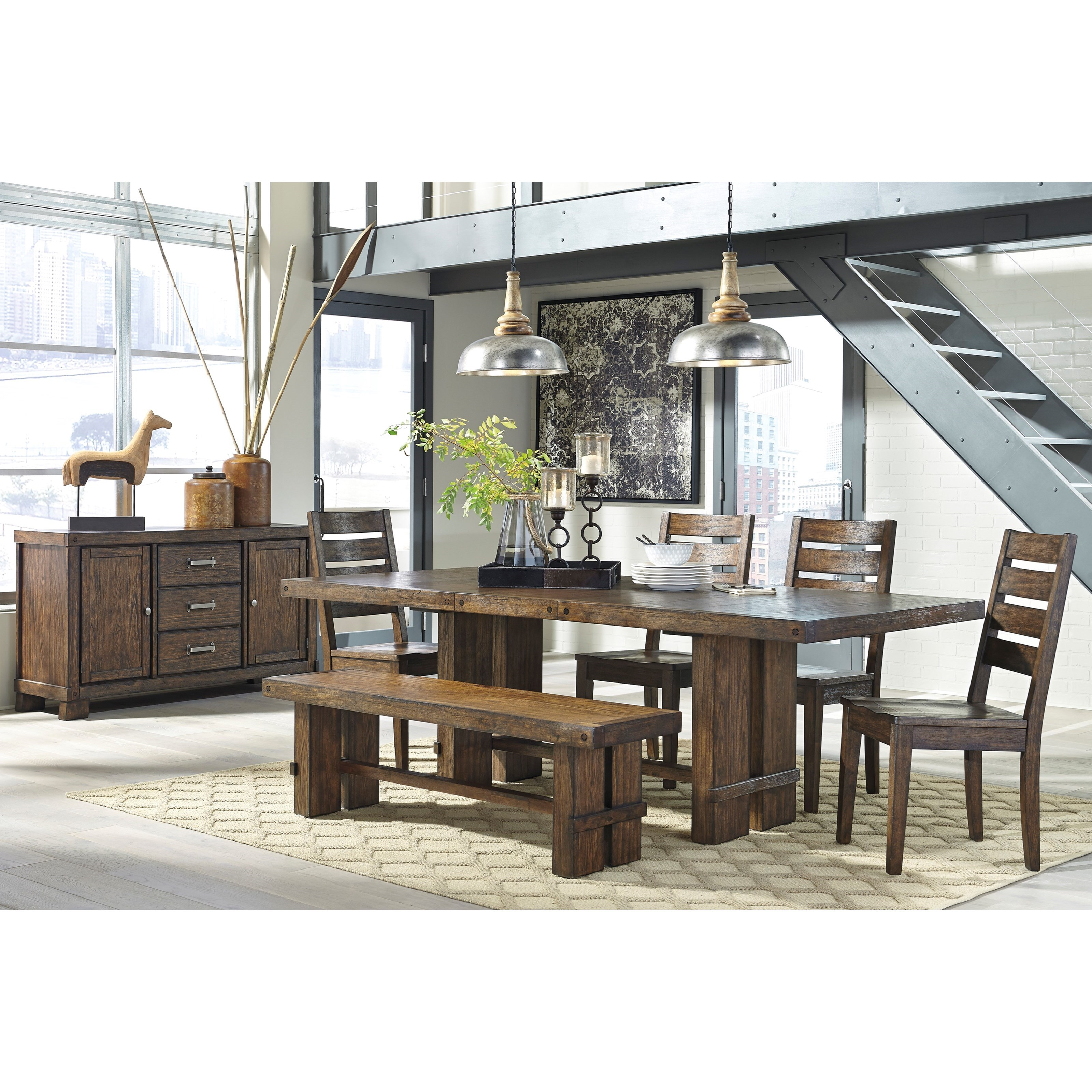 Signature Design by Ashley Leystone Casual Dining Room Group - Item Number: D614 Dining Room Group 2