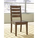 Signature Design by Ashley Leystone Industrial Dining Side Chair with Ladder Back