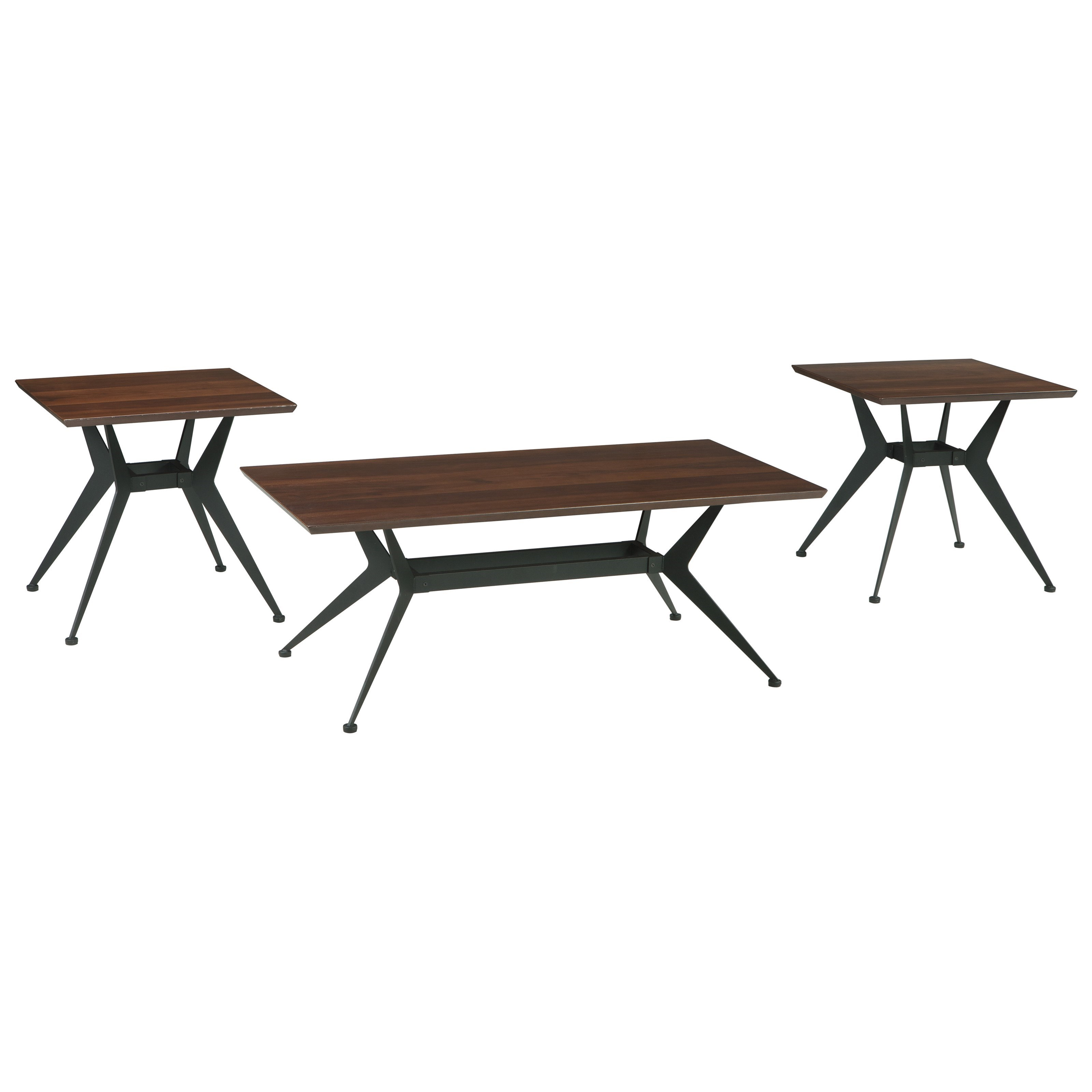 Signature Design by Ashley Liamburg 3 Piece Occasional Table Set - Item Number: T386-13