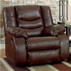 Ashley Linebacker DuraBlend - Espresso Rocker Recliner