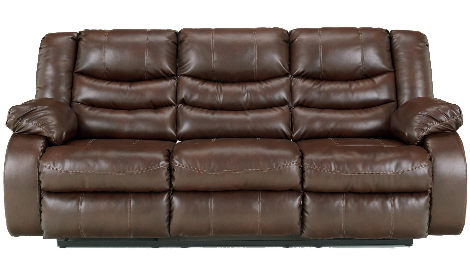 Benchcraft Linebacker DuraBlend - Espresso Reclining Sofa - Item Number: 9520188