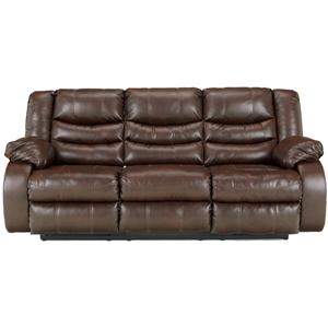 Ashley Linebacker DuraBlend - Espresso Reclining Sofa