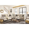 Signature Design by Ashley Lingen Casual Loveseat with Rolled Arms