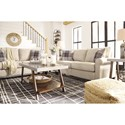 Signature Design by Ashley Lingen Casual Sofa with Rolled Arms