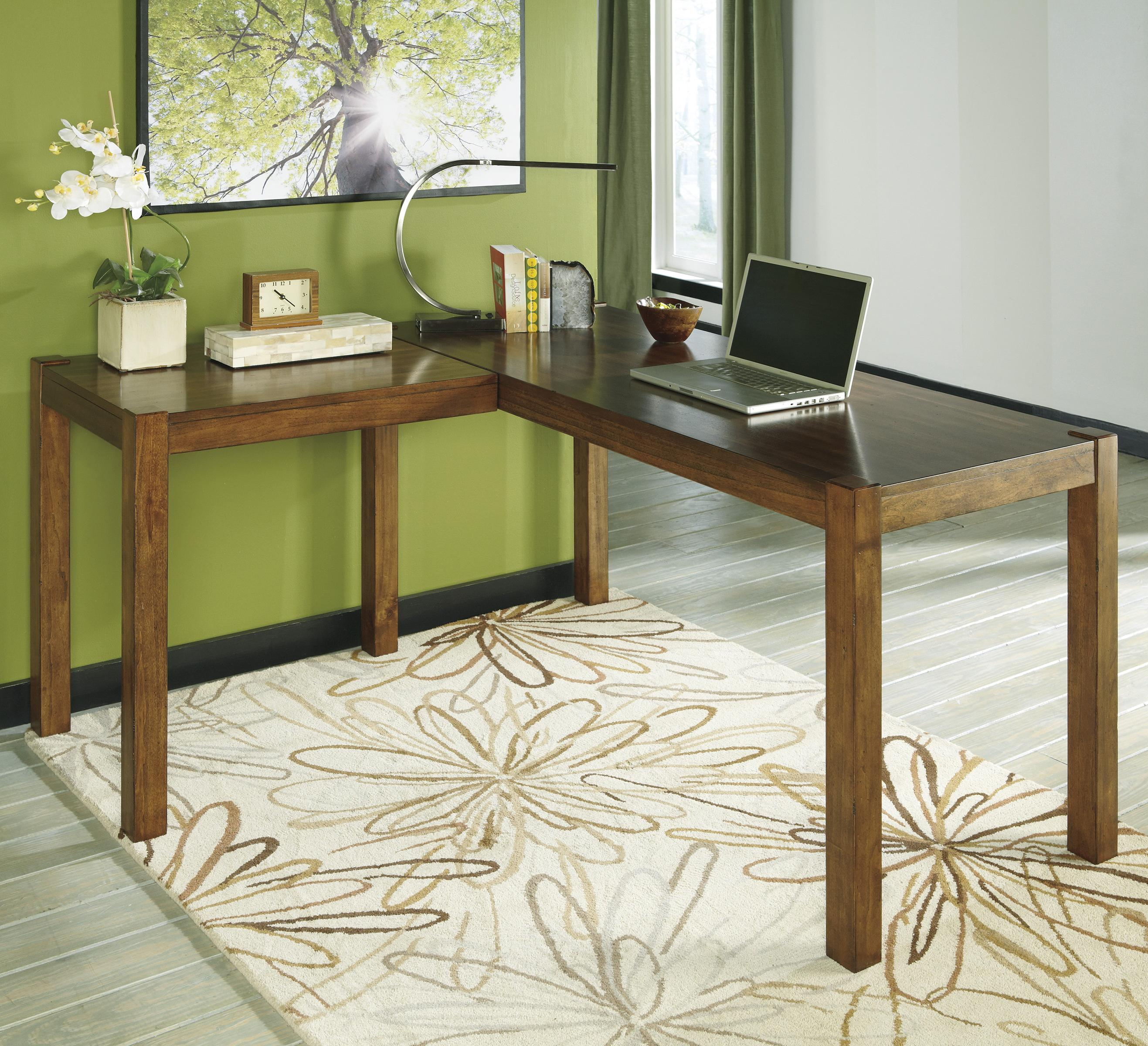 signature designashley lobink contemporary l-desk - rotmans