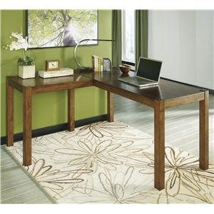 Signature Design by Ashley Furniture Lobink L-Desk
