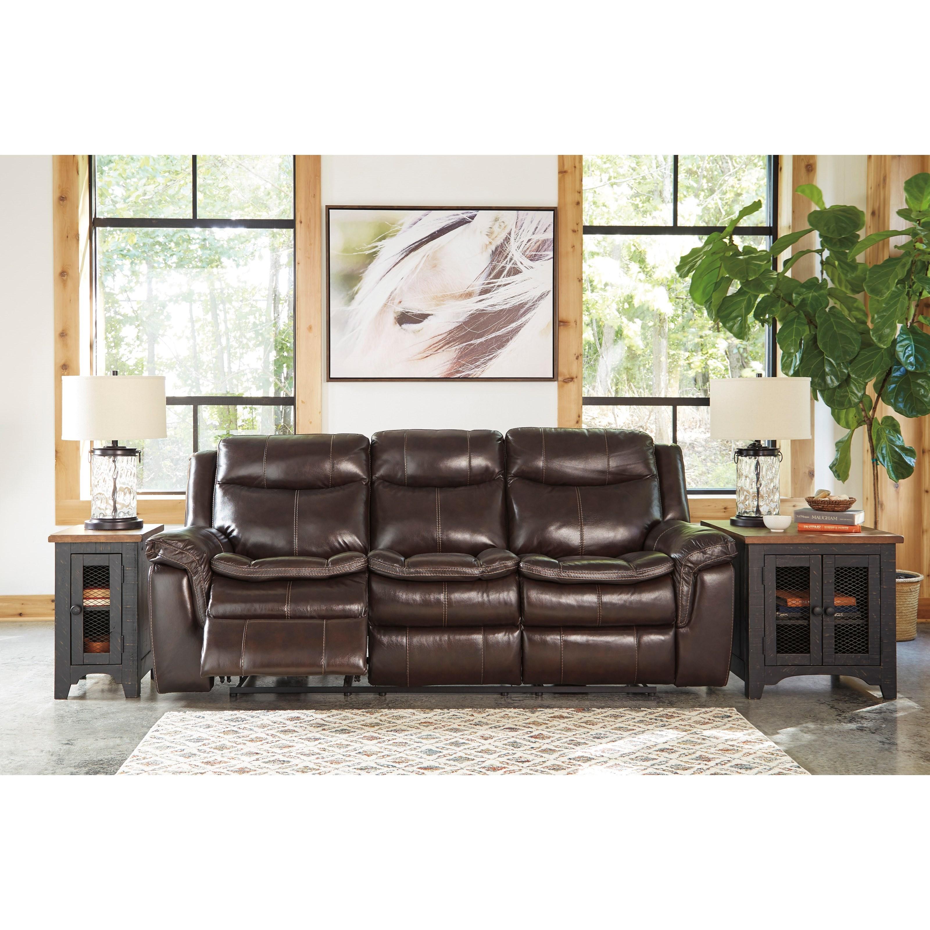 Ashley Furniture Manufacturer: Signature Design By Ashley Lockesburg Power Reclining Sofa