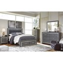 Signature Design by Ashley Lodana Queen Upholstered Bed with Color Changing LED Lighting and Footboard Storage