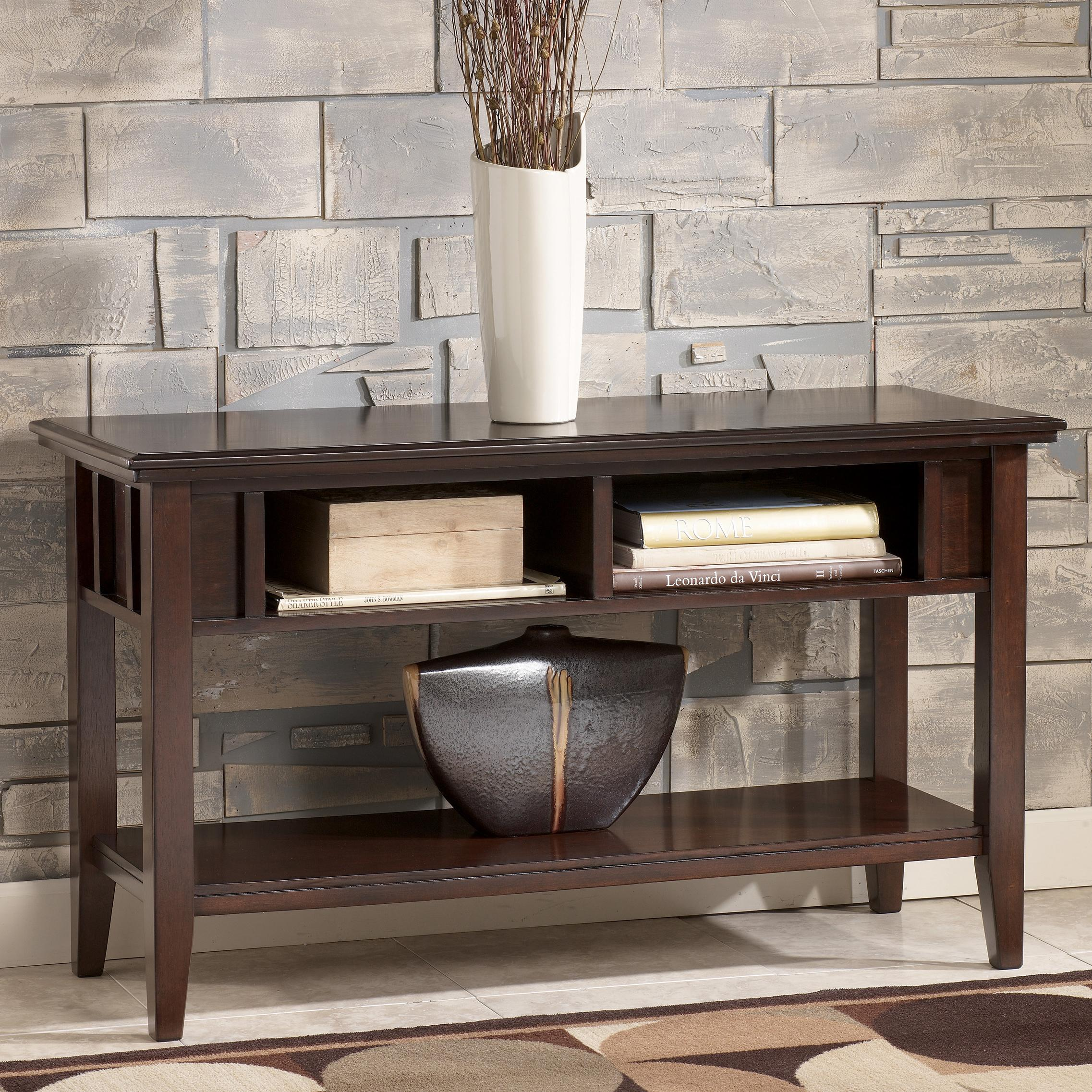 Signature design by ashley logan contemporary sofa table for Furniture xchange new jersey