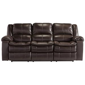 Signature Design By Ashley Long Knight Reclining Power Sofa
