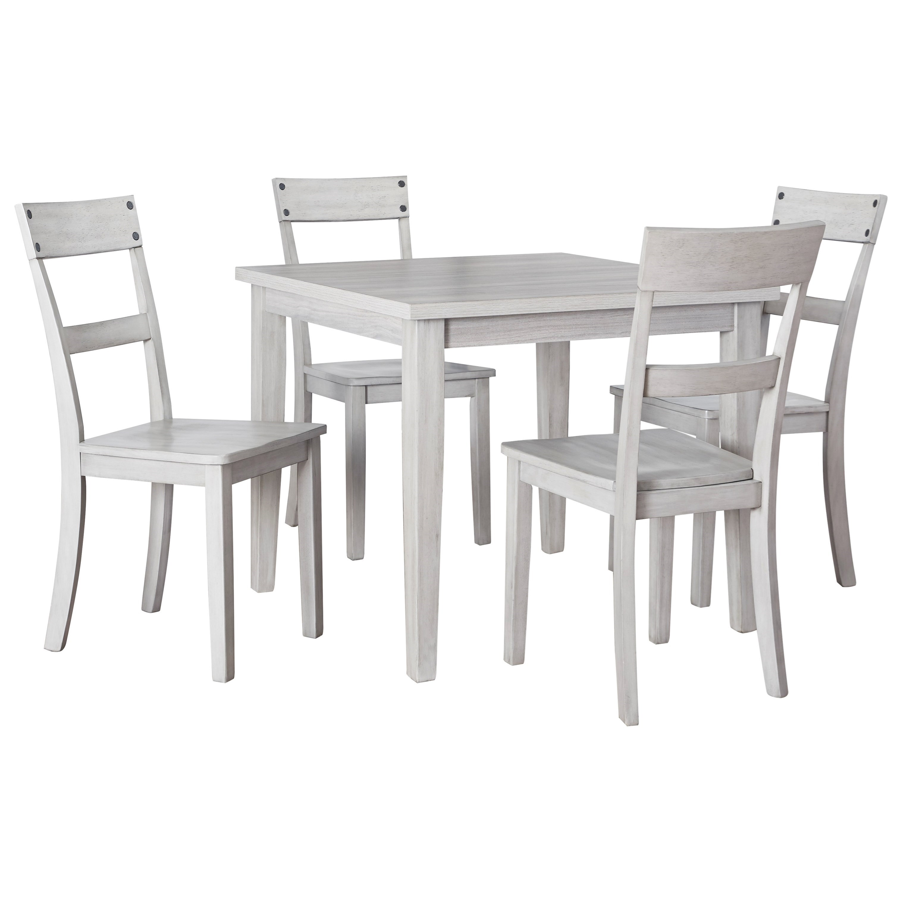 Loratti 5-Piece Square Dining Table Set by Ashley (Signature Design) at Johnny Janosik