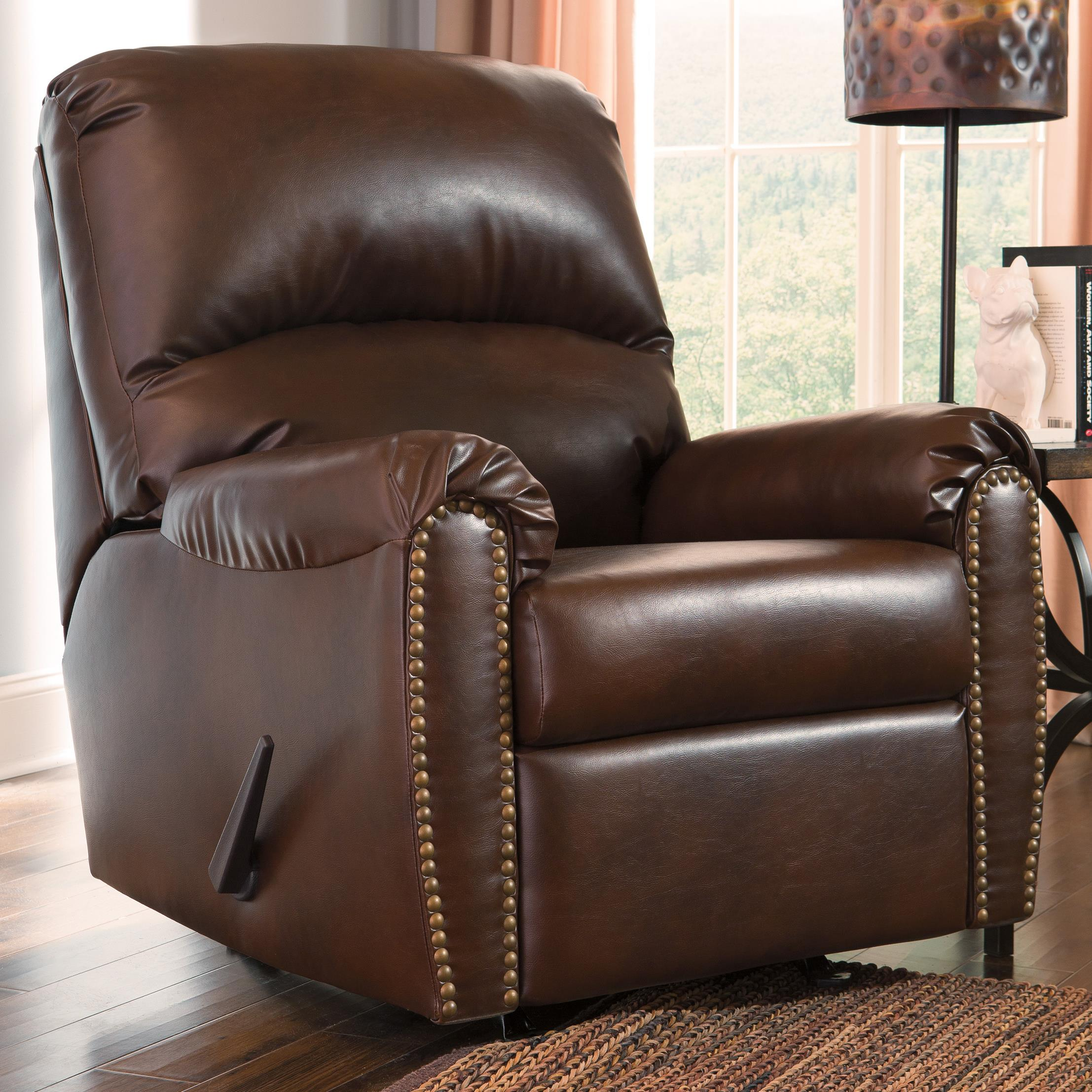Signature Design by Ashley Lottie DuraBlend® Rocker Recliner - Item Number: 3800025