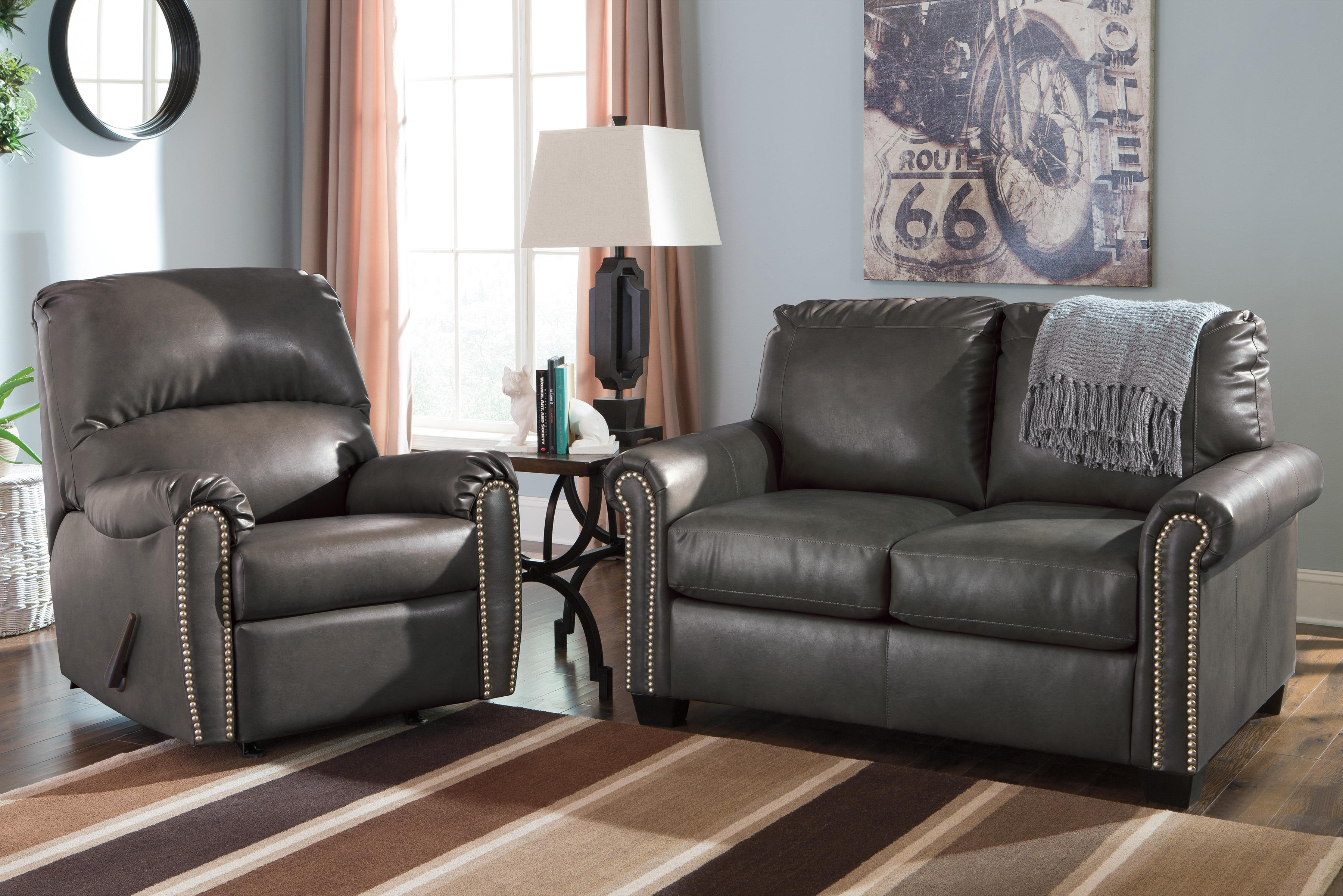 Signature Design by Ashley Lottie DuraBlend® Stationary Living Room Group - Item Number: 38001 Living Room Group 2