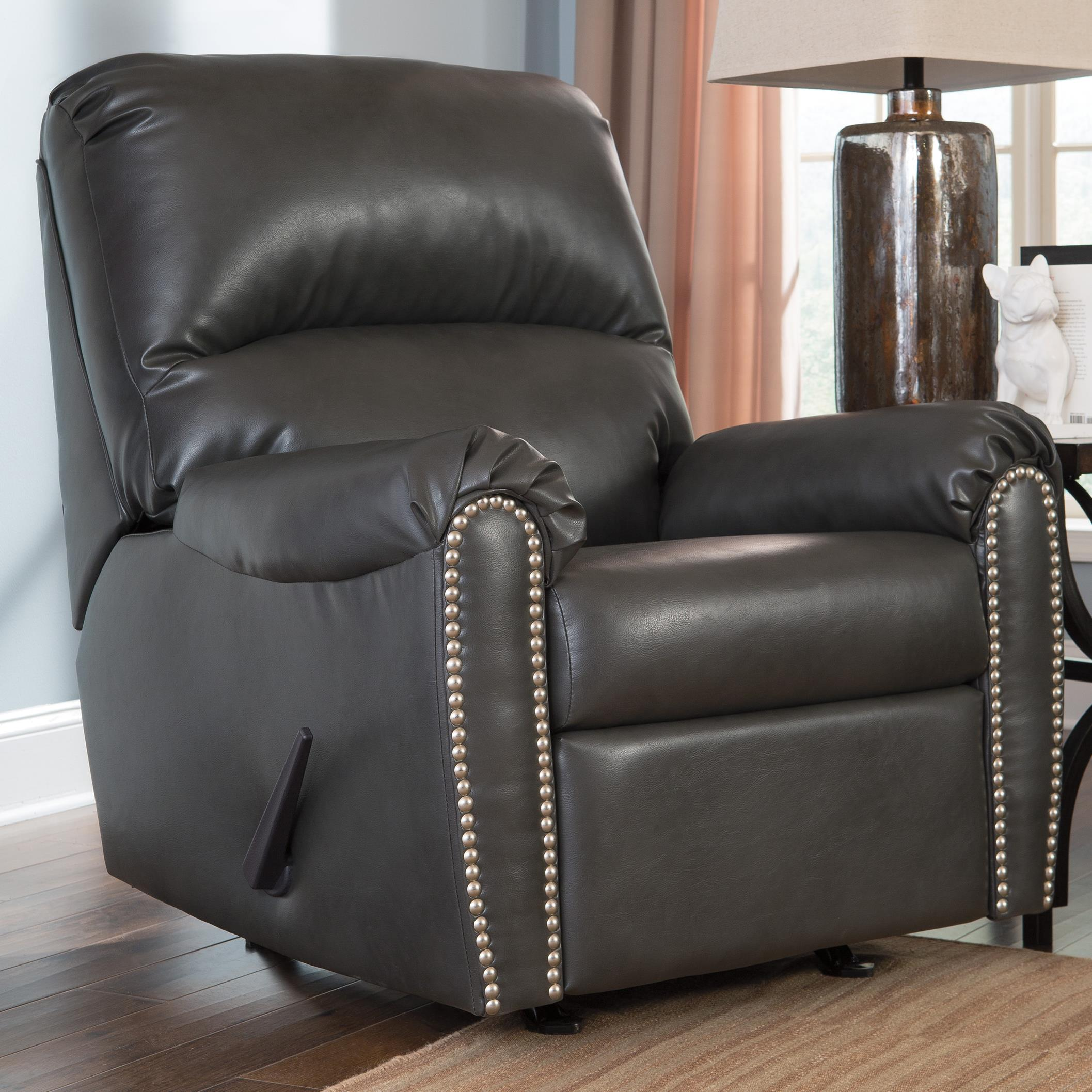 signature design by ashley lottie durablend rocker recliner item number - Leather Rocker Recliner