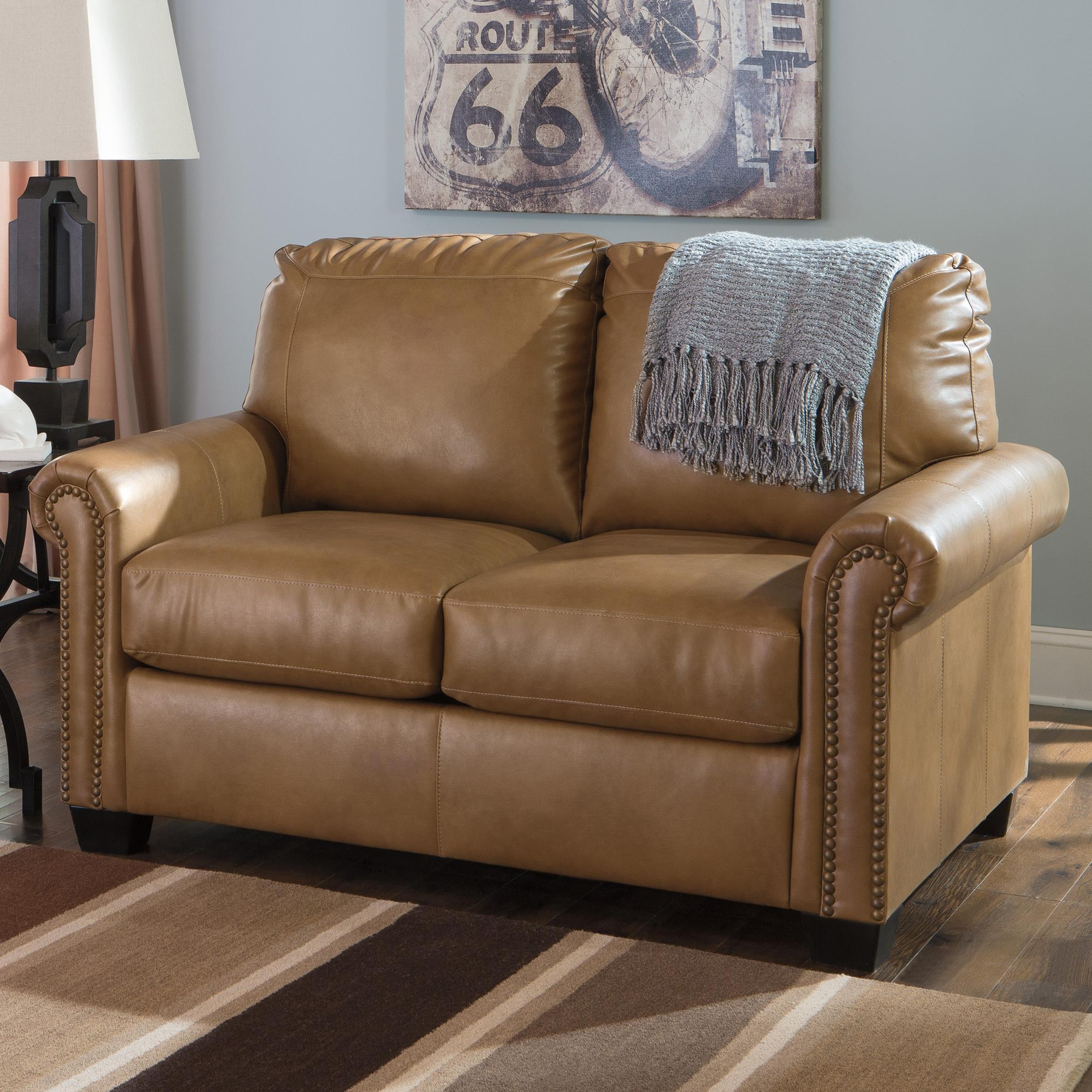 Signature Design by Ashley Lottie DuraBlend® Twin Sofa Sleeper - Item Number: 3800237