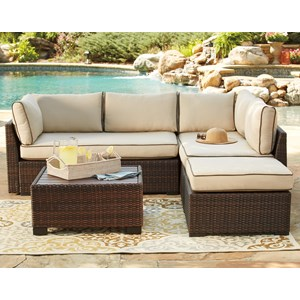 Outdoor Sectional Set with Cocktail Table