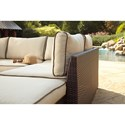 Signature Design by Ashley Loughran Outdoor Sectional Set with Cocktail Table
