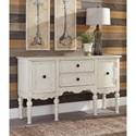 Signature Design by Ashley Loumont Cottage Style Console/Accent Cabinet in Antique White Finish