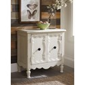 Signature Design by Ashley Loumont Cottage Style Two Door Accent Cabinet in Antique White Finish