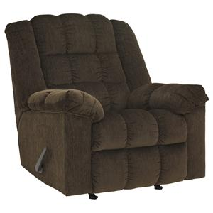 Ashley Signature Design Ludden - Cocoa Rocker Recliner