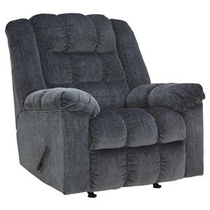 Signature Design by Ashley Ludden - Blue Rocker Recliner