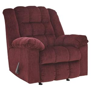 Signature Design by Ashley Ludden - Burgundy Rocker Recliner