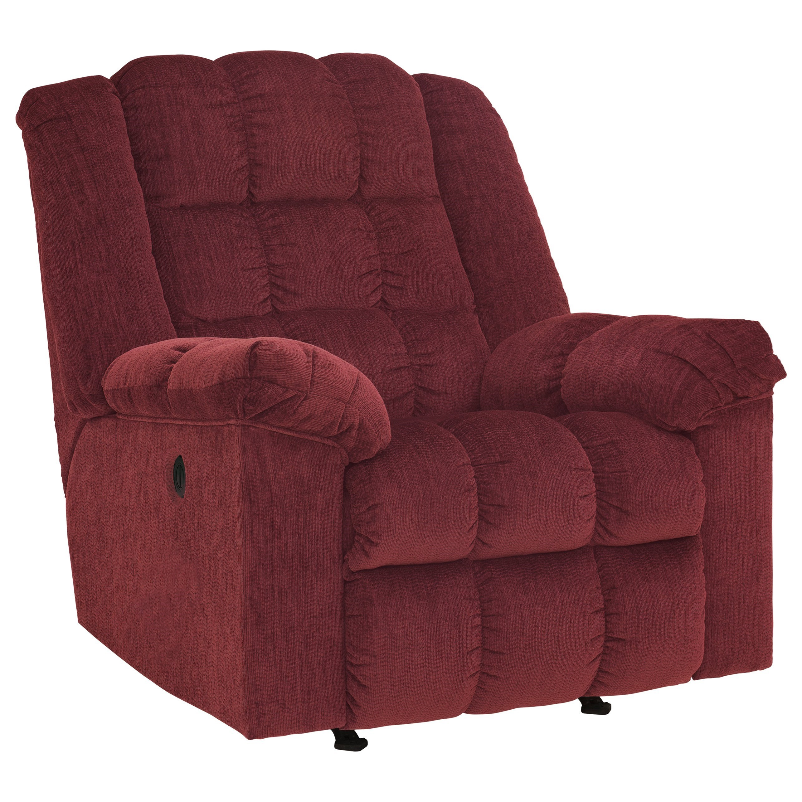 Signature Design by Ashley Ludden - Burgundy Power Rocker Recliner - Item Number: 8110698