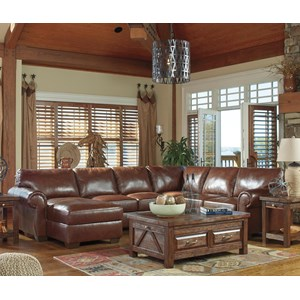 Signature Design by Ashley Lugoro 4-Piece Sectional with Left Chaise